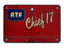 ATF Chief 17 plate